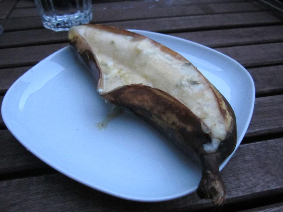 Gegrillte banane07