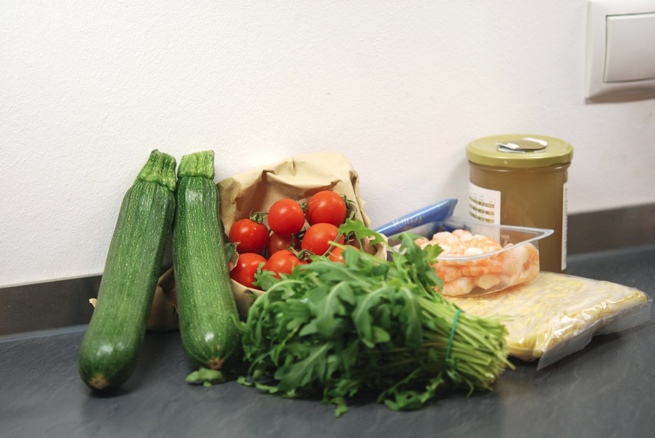 Tagliatelle Scampi Zucchini 02