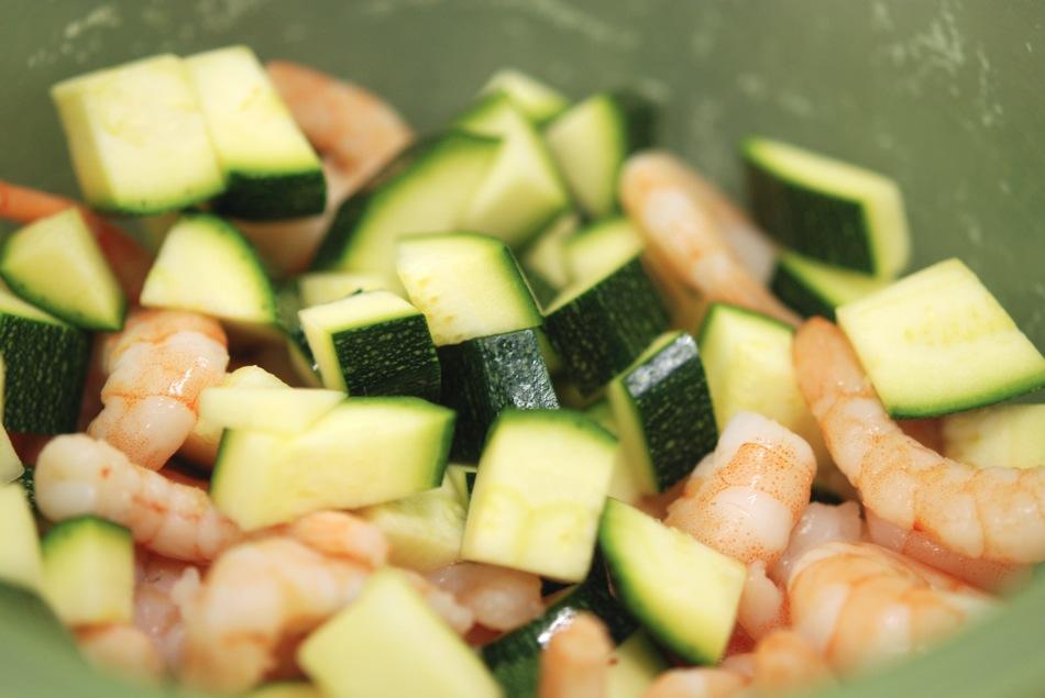Tagliatelle Scampi Zucchini 05