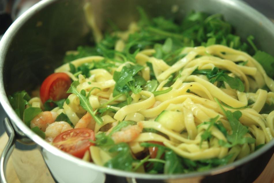Tagliatelle Scampi Zucchini 08