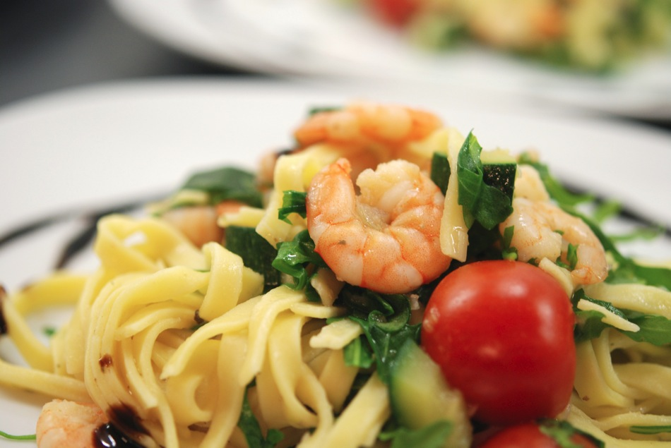Tagliatelle Scampi Zucchini 11