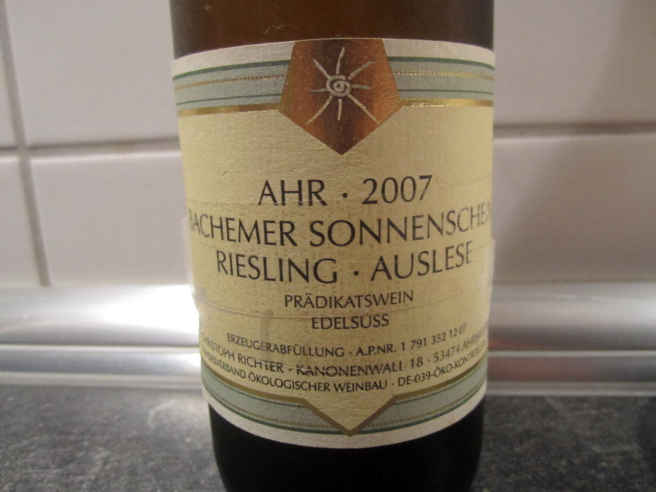 Weingut Christoph Richter, Riesling Auslese, Edelsüss, Bachemer Sonnenschein