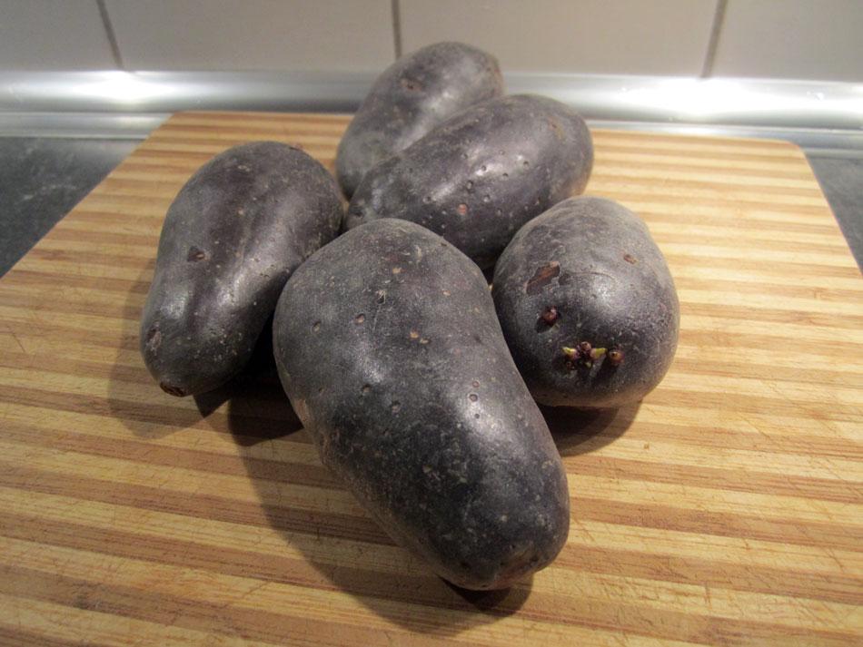 Lila-Kartoffel-Chips von der Trüffel-Kartoffel