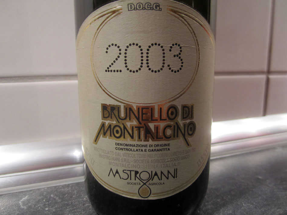 2003er Brunello di Montalcino von Mastrojanni
