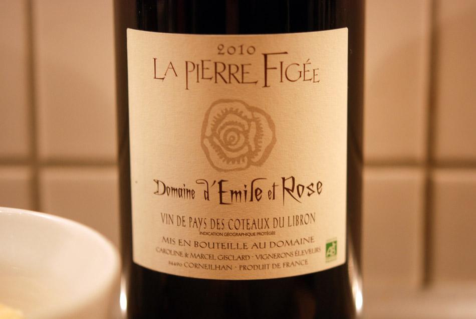 Der Domaine d'Emile et Rose - La Pierre Figee 2010 aus dem Languedoc