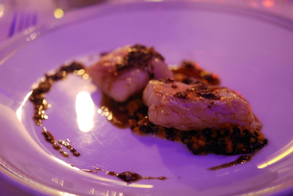 Kabeljaufilet mit extra nativen Kürbiskernöl confiert - Restaurant Hohenzollern