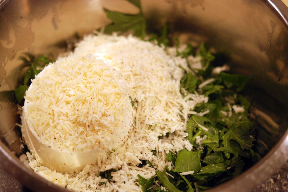 Gnocchi-Füllung Rucola und Ricotta