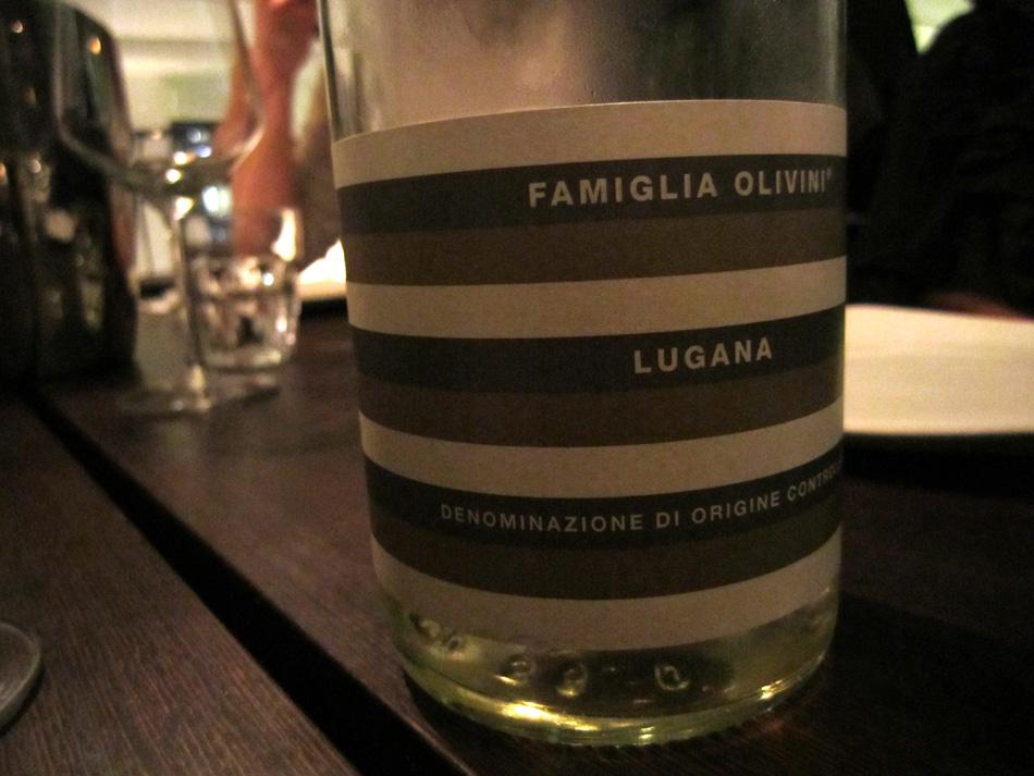 Und hier noch der Wein des Abends: Famiglia Olivini Lugana