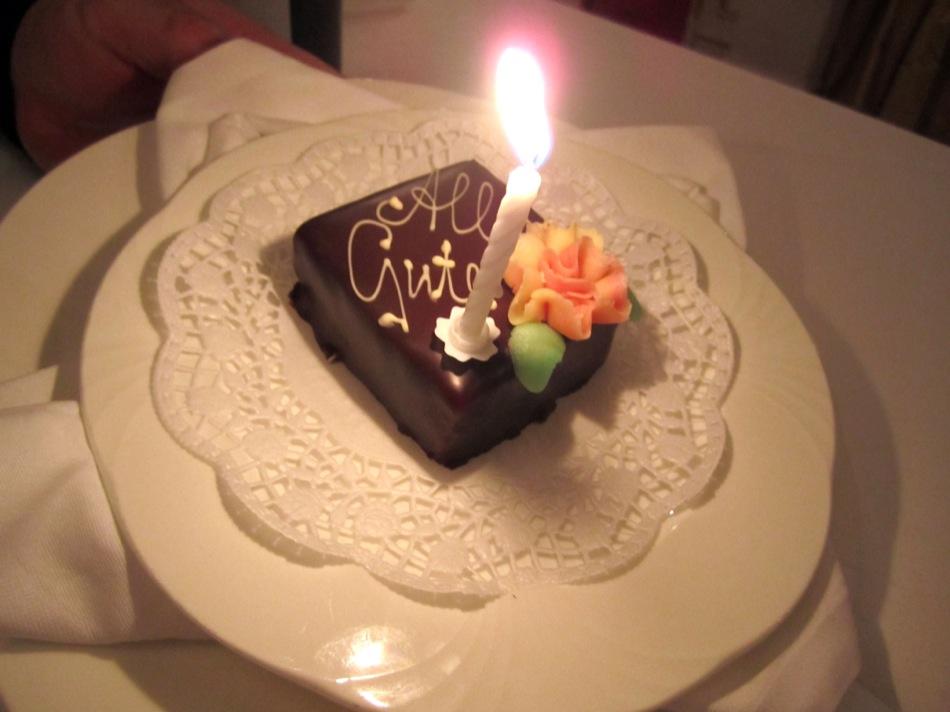 Und der Kuchen für das Geburtstagskind