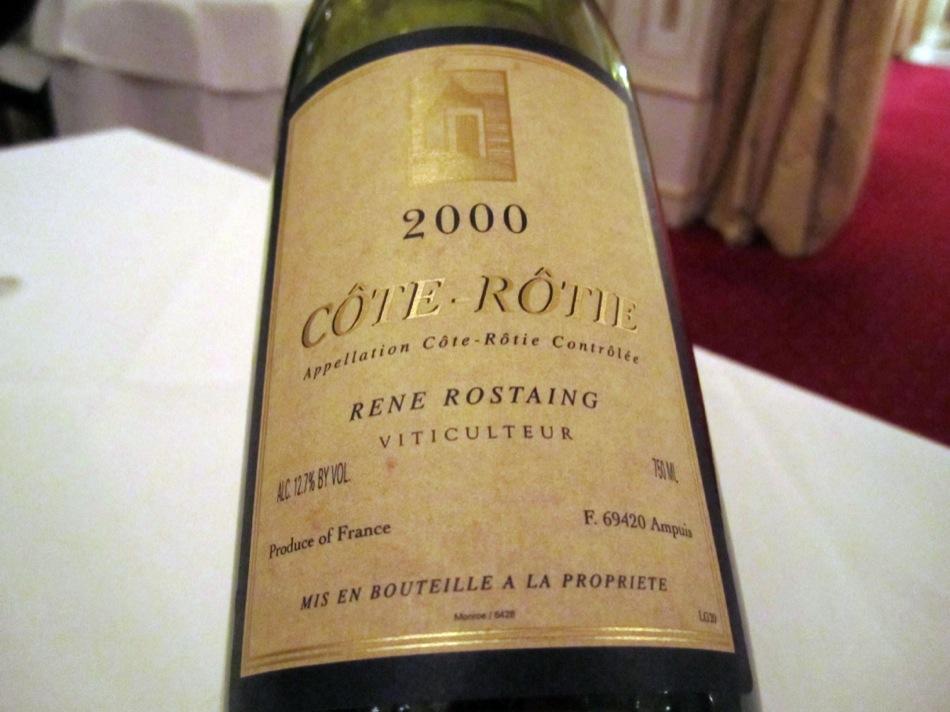 2000 Côte Rotie Domaine René Rostaing, Côtes du Rhône