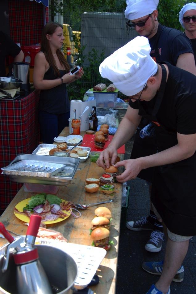 Bergische-BBQ-Meisterschaft Vorspeise - Triologie vom Burger - Classic, Asia, Arabisch