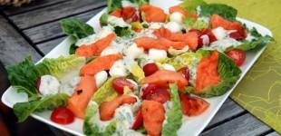 WeinRallye #65: Gegrillter Melonen Salat mit Grauburgunder von der Ahr