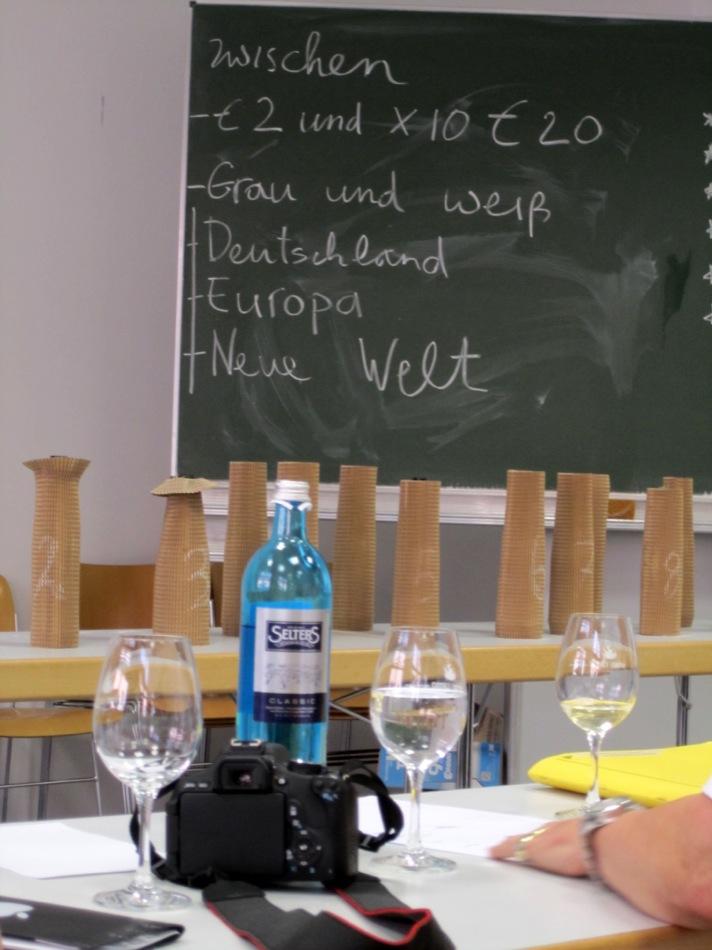 Bei der Grau- und Weißburgunder Probe von Cordula Eich vom www.superschoppen.com