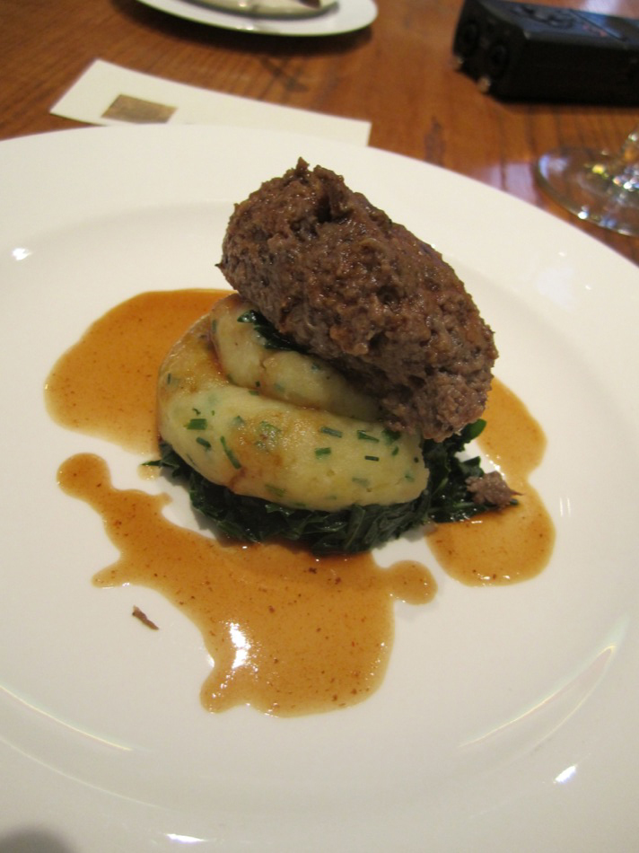 Homemade Cadboll Vension Heggis Traditional Clapshot tatties, Glenmorangie Original Jus