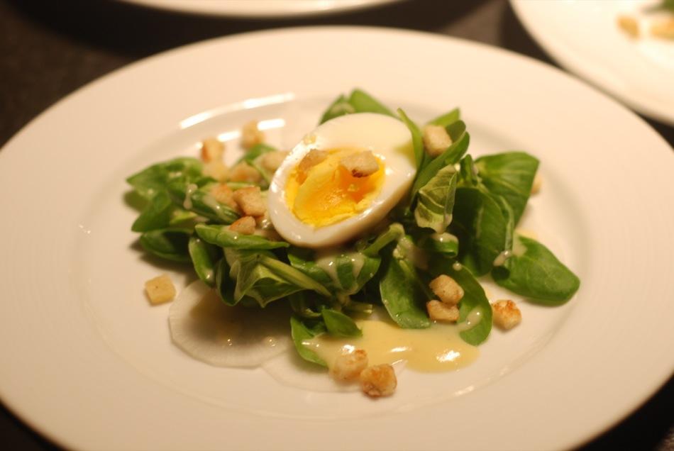 Feldsalat | Kartoffeldressing | Krachelchen | wachsweiches Ei