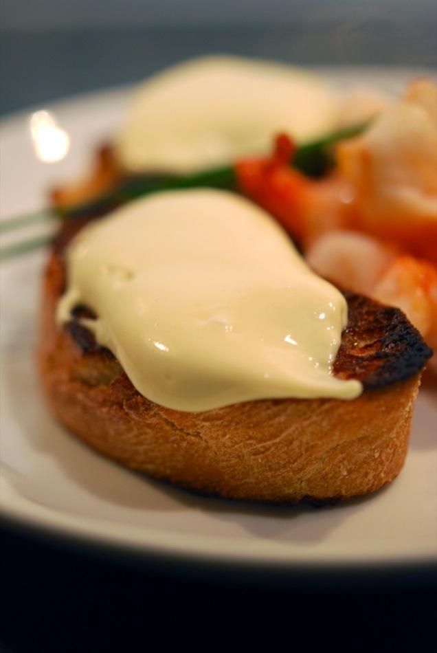 Scampi und Wasabi-Mayonaise zu Simonsig Chenin Blanc