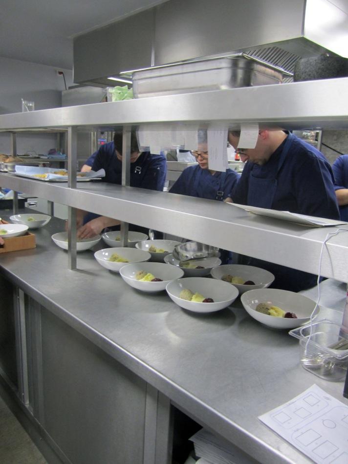 Ein Blick in die Küche des  La Soupe Populaire