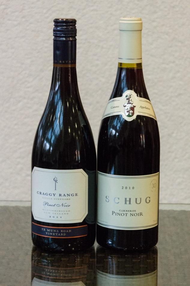 2011 Te Muna Pinot Noir, Craggy Range Vineyards, Martinborough, Neuseeland 2010 Carneros Pinot Noir, Schug Carneros Estate, Kalifornien, USA