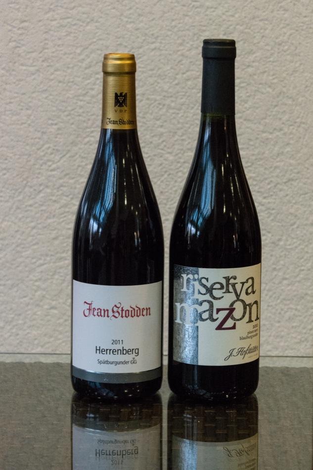 2010 Estate Pinot Noir, Paul Cluver Wines, Elgin, Südafrika 2011 Recher Herrenberg, Spätburgunder, Großes Gewächs, Weingut Jean Stodden, Ahr, Deutschland