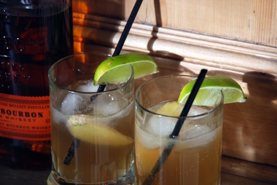 Bourbon Ginger Spice Cocktail - BBQ Aperitif mit schöner Schärfe