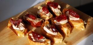 VinoCamp-Wine-Food-Pairing: Foie Gras auf zweierlei Croissant & Weinbergpfirisch