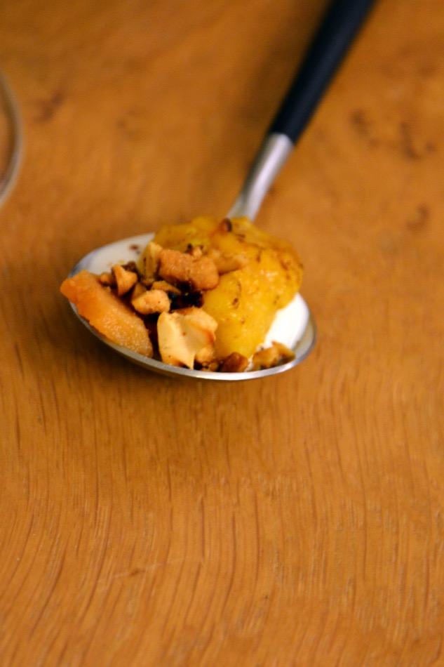 Kürbis-Gnocchi mit Ziegenkäse und Erdnüssen zum 2Naturkinder Heimat Silvaner 2013