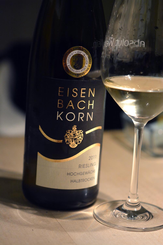 Eisenbach-Korn Riesling 2011 halbtrocken vom Rhein