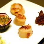 Fenchel-Maracuja-Salat mit gebratenen Jakobsmuscheln & Crunch